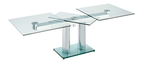 NABUCCO Carries Its Boat Shaped Or Rectangular Table Top On Impressive Extension Mechanism Synchronously Pull The Apart To Allow